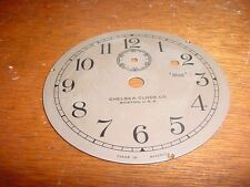 "Old Vintage Chelsea Clock Company 3 3/4"" Replacement Silver Colored Dial  e265"