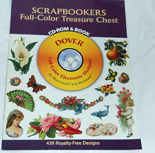 Scrapbookers Full-Color Treasure by Dover Staff (2003, with CD)