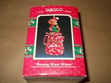 ENESCO BREWING WARM  WISHES  ORNAMENT 1990  IN ORIGINAL BOX