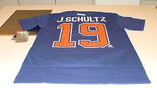 Justin Schultz Edmonton Oilers Reebok Name Number Team Logo T Shirt S Blue NWT
