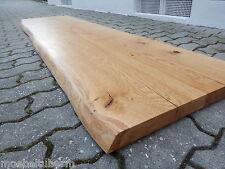 Tischplatte Regalbrett Platte Eiche Wild Massiv Holz Leimholz Brett m. Baumkante