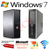WINDOWS 7 FULL DELL/HP COMPUTER DESKTOP PC 4GB RAM 160GB-320GB HDD