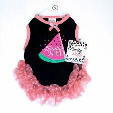 "Simply Wag ""Totally Sweet"" Dog Apparel Shirt Pink Black Tutu Watermelon"