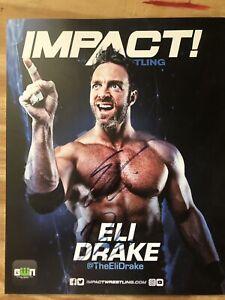 Eli Drake Autograph 8x10 TNA Impact Wrestling GWN