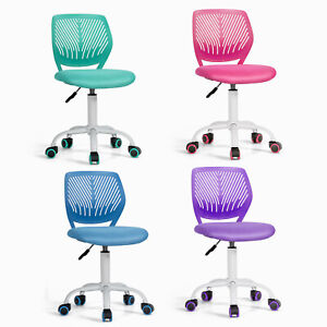 Kids Swivel Mesh Desk Computer Chair Student Study Task Chair Backrest Ajustable