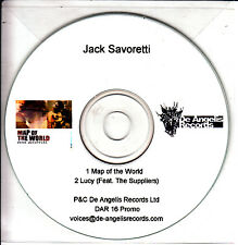 JACK SAVORETTI Map Of The World 2009 UK 2-trk promo CD white disc pvc sleeve