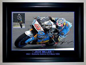 JACK MILLER MotoGP Estrella Galicia 0,0 Marc VDS A3 Framed Action Photo Collage