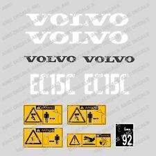 VOLVO EC15C MINI DIGGER EXCAVATOR DECAL STICKER SET