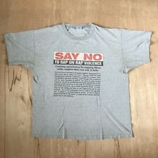 f4a08061 Vintage VTG 90's No Limit Say No To Rap On Rap Violence T-Shirt XXL
