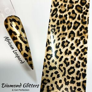 Nail Transfer Foil 1m Gold Animal Print Full Coverage Nail Art African Leopard
