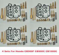4 Sets For Honda CB900F CB900C CB1000C Carb Carburetor Rebuild Kit Repair Kit
