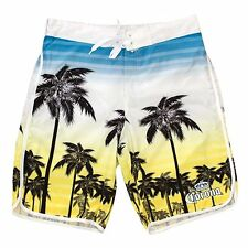 Corona Beer Sunset Palm Tree Stripe Summer Swim Beach Mens Board Shorts CMBS8