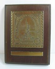 15 Cent LIBERTY POSTAGE STAMP Wood PLAQUE 1886-1986 Centennial Postage AVON