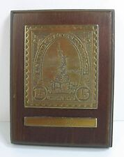 15 Cent LIBERTY STAMP Wood PLAQUE 1886-1986 Centennial Postage AVON