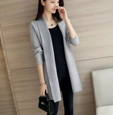 Elegant Women Cardigan Long Jacket Trench Coat Autumn Winter Wool