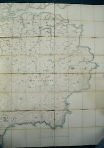 8 Boxed Linen Maps Cornwall, Edward Stanford 1900's, Lg Scale, Helford to Grade