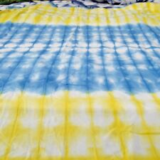 5 Yard Indian Hand-Dyed Cotton Shibori Fabric Bhandani Craft Sewing Material A1