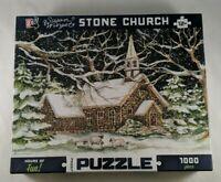 Susan Winget Stone Church Jigsaw Puzzle 1000 Piece Winter Scene Go! Games New