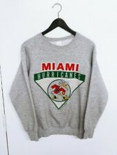 Vtg 1990s Miami Hurricanes NCAA Fruit of Loom Sweatshirt Size (M)