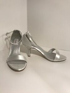 Dyeables Nayomi White Satin Sandals Dye To Match Any Color