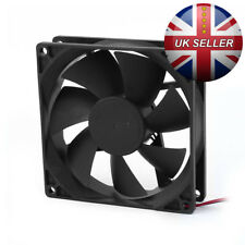 90mm x 25mm 2pin 0.25A 12V DC Brushless Cooling Fan PC Case CPU Cooler - UK