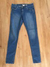 Ladies ROXY Super Skinny Jeans Size 12 Blue Denim Faded