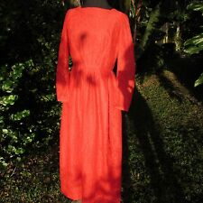 Vintage 60s FABULOUS Long Sleeve Red Lace Dress Cocktail Party Holiday Xs/Small