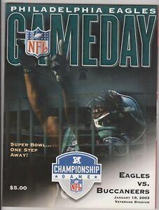 PHILA EAGLES LAST NFC CHAMP GAME AT THE VET GAMEDAY PROGRAM JAN 19th 2003