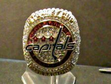 NHL~2018~Stanley Cup~Champions~Washington Capitals~Ring~Size~12~Heavy~Gold Plate