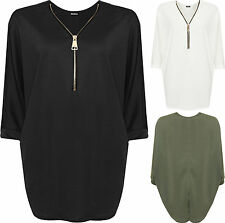 Women's V Neck No Pattern Hip Length Plus Size Tops & Shirts