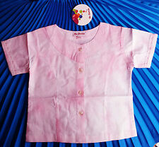 KIDS GIRLS  FASHION EMBROIDERED BEADING ON THE SLEEVES BLOUSES/TOPS4-5 Y.O