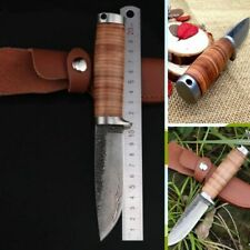 Sharp Hunting Knife Fixed Blade Hand-Forged High Carbon Steel Survival Knives