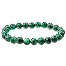 Green Malachite Gemstone Men's Bead Bracelet 6mm by Urban Male Jewellery