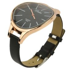 Dalas  Trendy Quarzuhr Armbanduhr Damenuhr Uhr Schwarz + Gold S2A3
