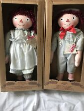 Applause 1998 Limited Edition Raggedy Ann & Andy Dolls 4367/7500 1930s Reproduct