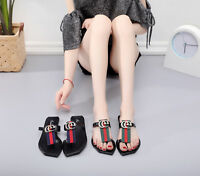 New Women Colorful Summer Slippers Flip Flops Sandals Beach Shoes US Size 5-9