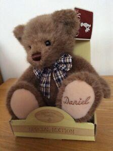 Caltoy personalised teddy bear named Daniel