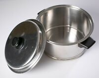 Vintage Lifetime 18-8 Stainless Steel Cookware 6 Quart Stock Pot with Lid USA