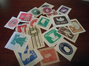 Collection lot 20 different United States cut squares stamps