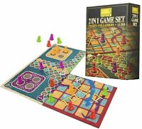 2 in 1 Snakes & Ladders and Ludo - Folding Board - Traditional Board Game Set