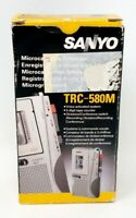 Sanyo TRC-580M Microcassette Recorder Voice activated dictation -SILVER/ORIGINAL