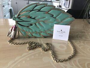 Kate Spade Leather Mint Leaf Clutch/Crossbody Bag
