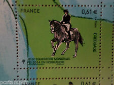 FRANCE 2014, timbre CHEVAL, HORSE, JEUX, DRESSAGE, neuf**, VF MNH STAMP