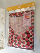 Orla Kiely Heattech Long Sleeve V Neck Thermal T Shirt size Japanese M by Uniqlo