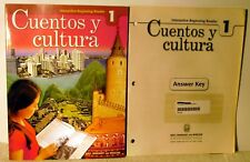 Holt Cuentos y cultura 1 interactive beginning reader with Answer key