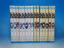 "I""s I's Is Manga complete lot full set Vol.1-15 Japanese Edition"