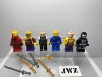 LEGO Mini Figures NINJAGO Figure Bundle - 6 Mini Figures + Weapons