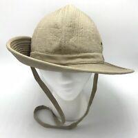 Vtg Banana Republic French Indochina Safari Bush Hat Cap L Large Quilted Cotton