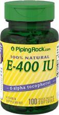 100% Natural Vitamin E, 400 IU, 100 Softgels