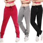 Women's Pocket Drawstring Casual Gym Jogging Bottoms Sports Slim Pants Trousers